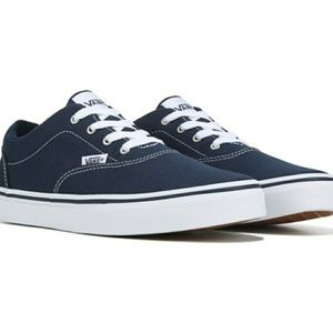Vans Navy Blue & White Low Top Shoes 3Y
